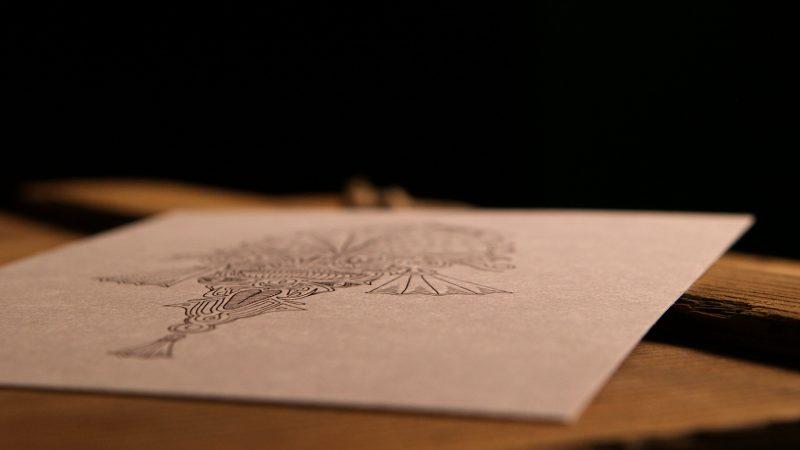 Beautyshot Ancient print illustration black white Origin Texture