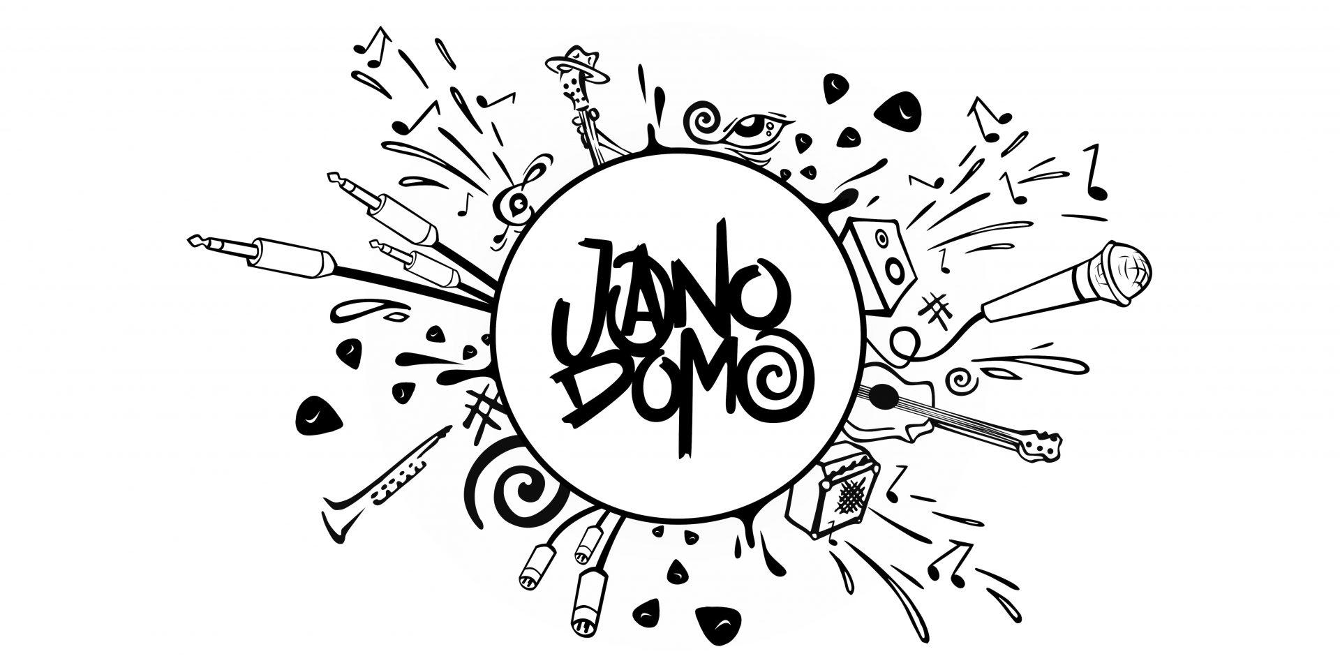 Jano Domo Band Logo Banner & Merch Design