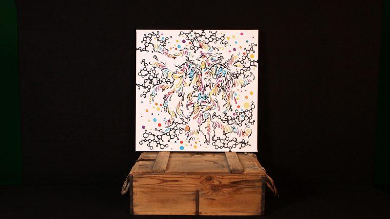 """""""Molecular Mess"""" Leinwand Color Fading Motiv"""