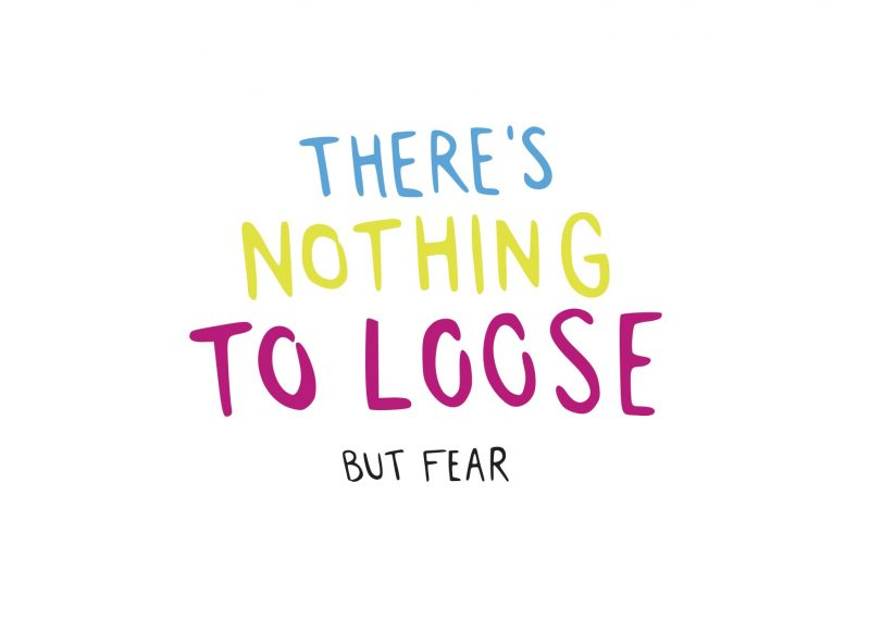 Nothing To Loose handwriting design colorful