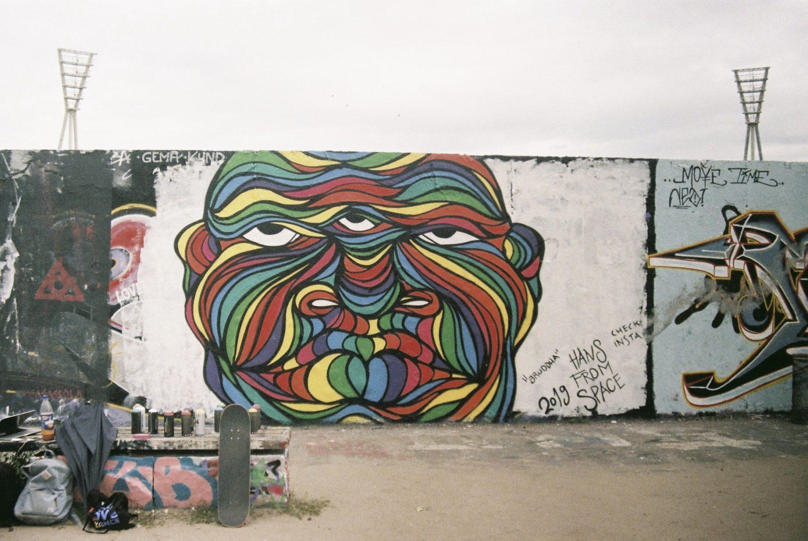 "Graffiti Wallart Berlin Mauerpark ""Bruddha"" #2"