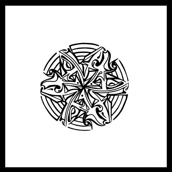 Mandala 3 Illustration Hans From Space, schwarz weiß