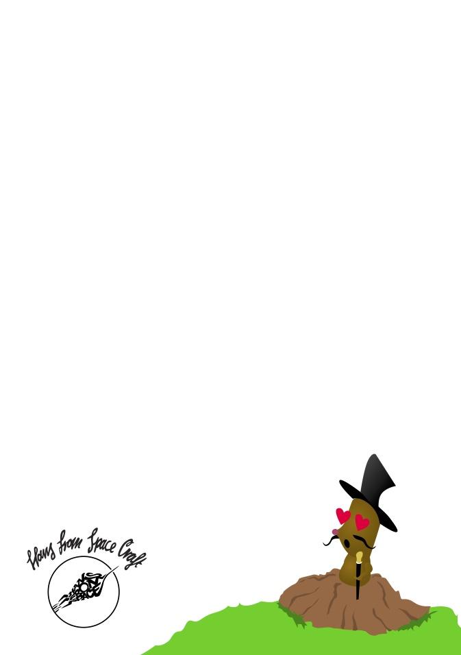 """Hochzeit Einladungskarte DeBeijer - Rück-Illustration """"Verliebter Maulwurf"""""""