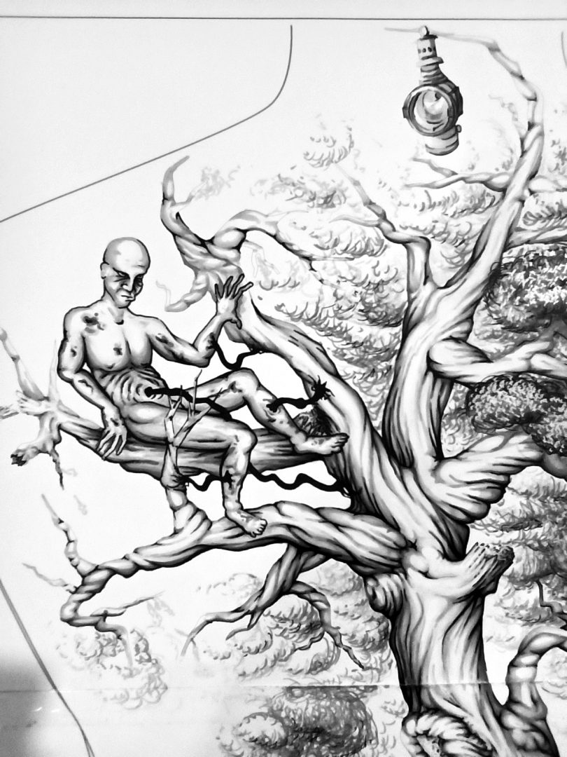 "Backpiece ""Tree & Human"" Rücken-Tattoo Sketch Teil 1"