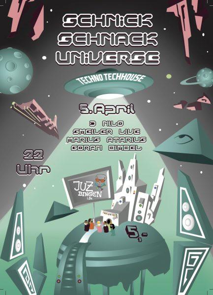 14.04.05 - Schnick Schnack Universe Flyer Front