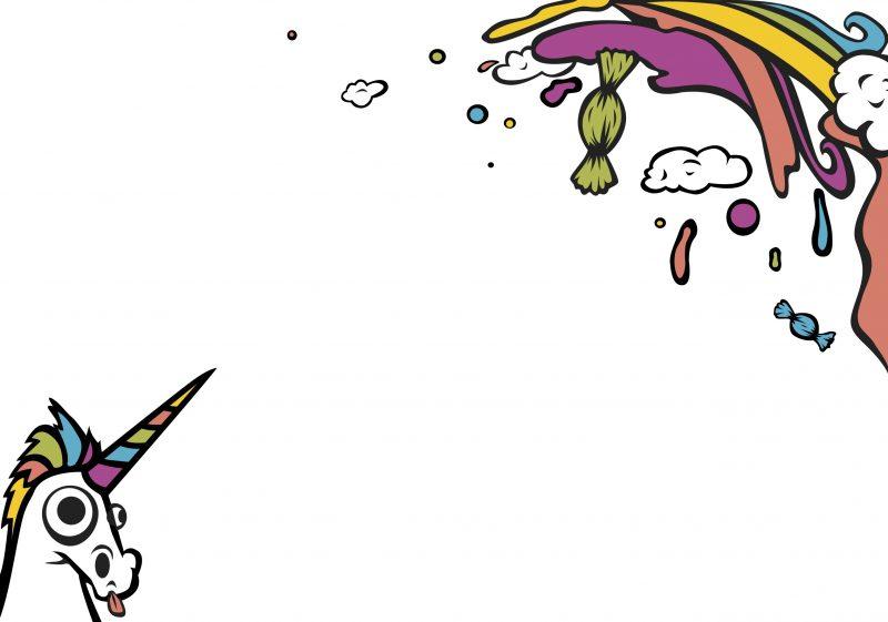 16.11.26 - Schnick Schnack Rainbow Rave Illustration Back