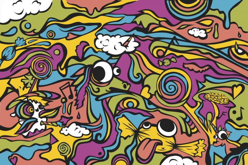 16.11.26 - Schnick Schnack Rainbowrave Illustration Front