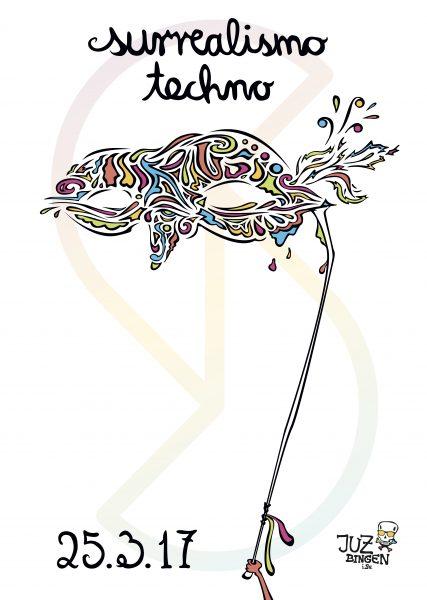 17.03.25 - Schnick Schnack Surrealismo Techno Flyer Front