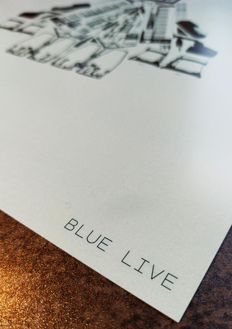 Blue Live Close Title Poster