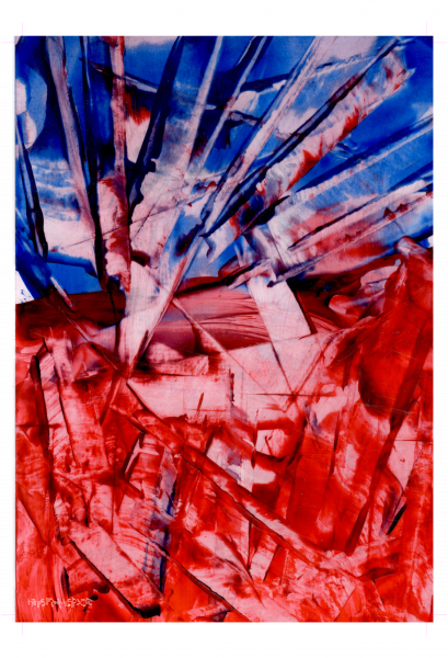 Red Blue Abstract