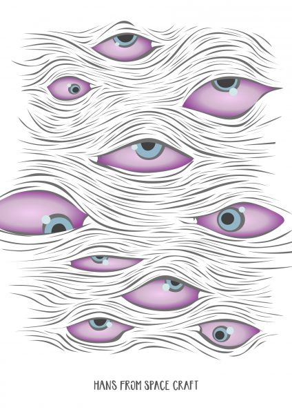 Eyes Eyes - Illustration by Hans From Space