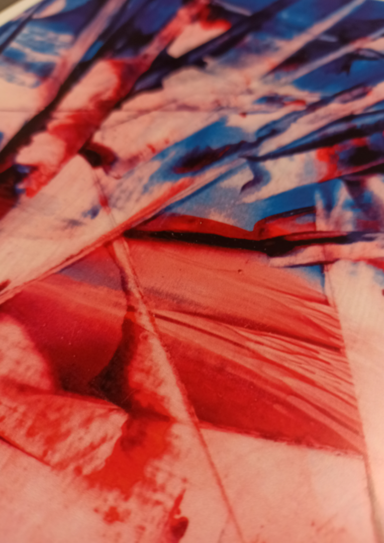 Red Blue Abstract 01 Poster Close