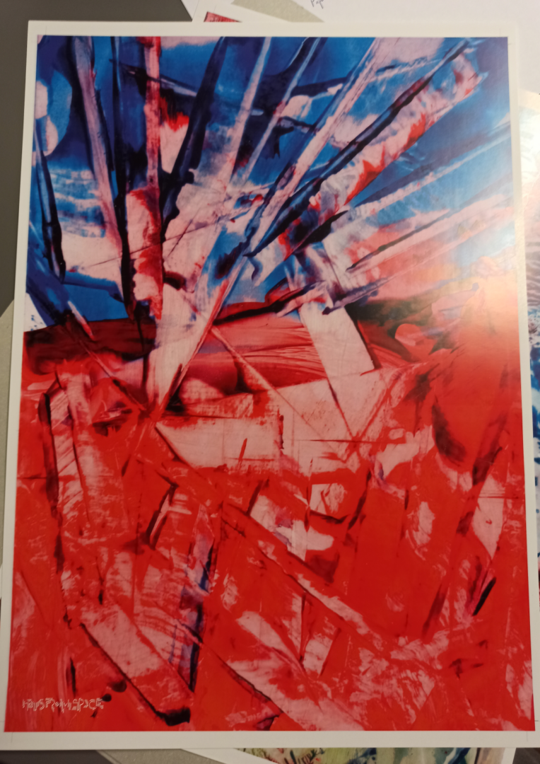 Red Blue Abstract 03 Poster Full