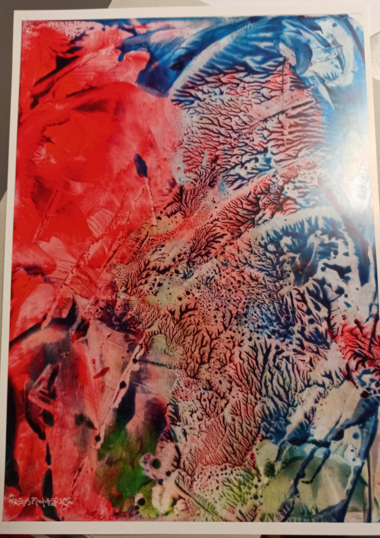 Red Blue Ader Abstract 03 Poster Art Full View