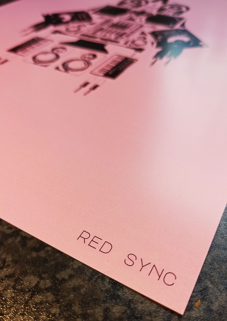 Red Sync Close Title Poster